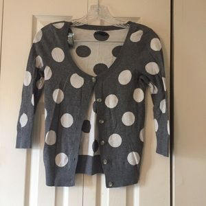 American Eagle polka dot cardigan sweater